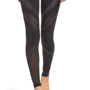 Alo Yoga Black Mesh Leggings Size M